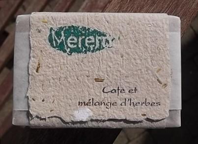 jabón café y mezcla de hierbas
